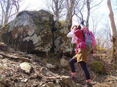 この岩のところへ着たらあともう少し