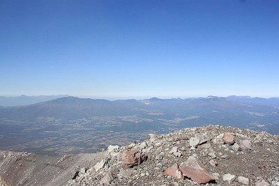 浅間山山頂より東の展望
