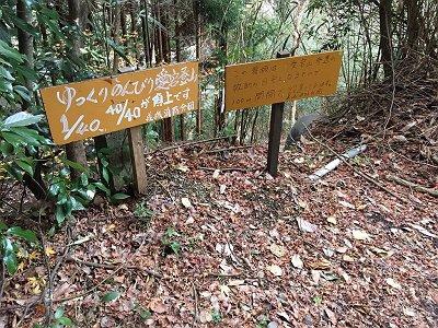 1/40に降りてきました。100mごとに設置してあるようなので清滝~山頂までは4kmということになるのか!?