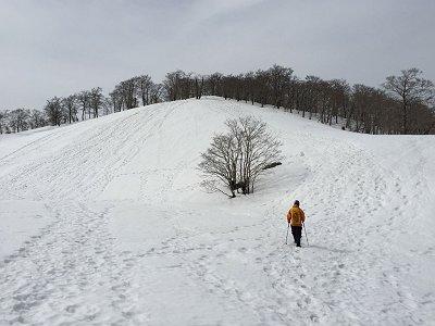 前山直下のこの登りも結構キツかった