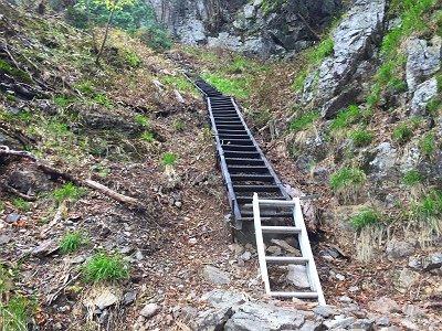 さあここから大普賢への登りが始まります。階段やら急登やらが続きます