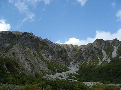 青空と大山の稜線。とても西日本の山とは思えない素晴らしい景観