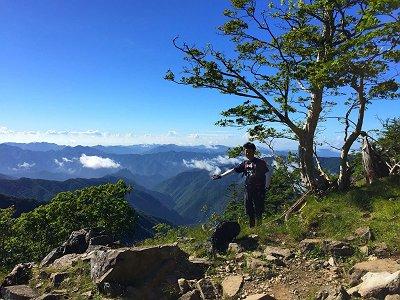 この迫力、山がうじゃうじゃ山深い~~~これが大峰の素晴らしい展望の一つ