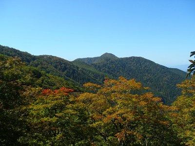 行こうとしていた薊岳がよく見えた!天気もバッチリ!