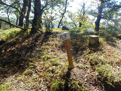 明神岳のすぐ向こう側にある分岐