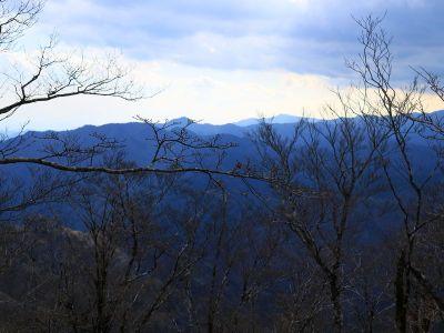 池木屋山山頂から唯一ちょっとした展望があった。冬だから見えるのかな!?