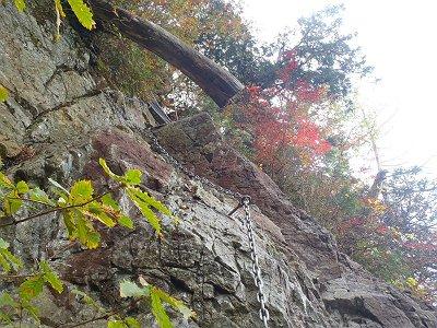 ここ、少しの岩場だが落ちるとENDで少し濡れていたので細心の注意を払った