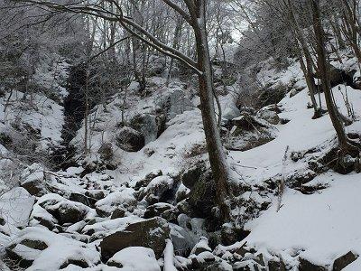 滝と氷爆があった