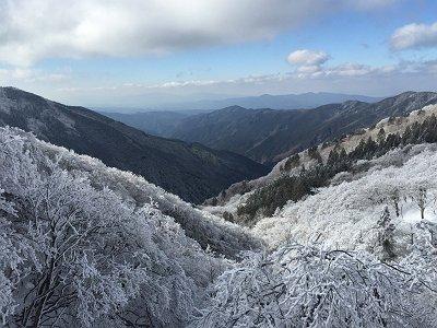 金剛山と葛城山が見えた。大気もバッチリ!!