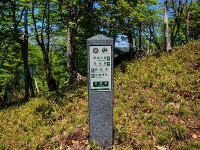 地蔵岳のピークに到着した。この看板は山頂手前にあったけど・・・