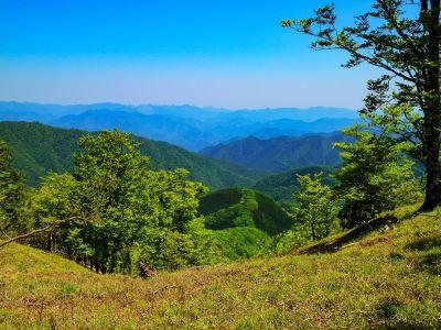 行きは気づかなかったけど、谷と山々が見える展望地があったので撮影しておいた