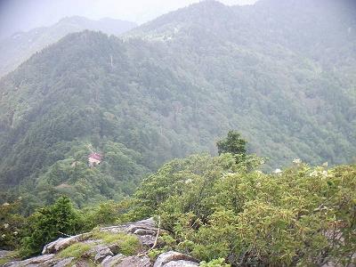 鐘掛岩からの展望