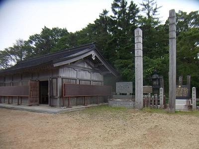 大峰山寺の本堂の広場