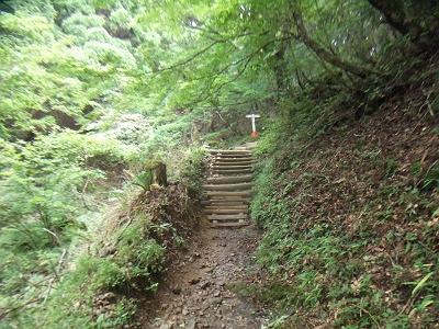 お助け水からは急坂の階段が増えてくる