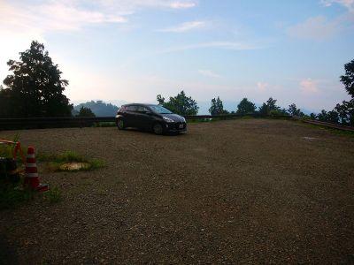 雷雨にやられてビショビショになりながらも駐車場まで戻ってきた。お疲れ様でした