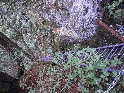 こんな梯子をあがってきたが上から見るとすごい