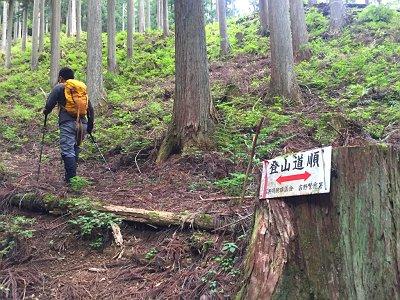 登山道のところどころにこういう標識があった