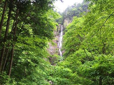 結構な落差の琵琶滝