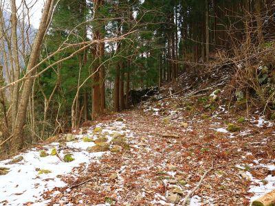 ここから入山。今回は雪も少ないしトレースもあるのでラッセルは必要ないね